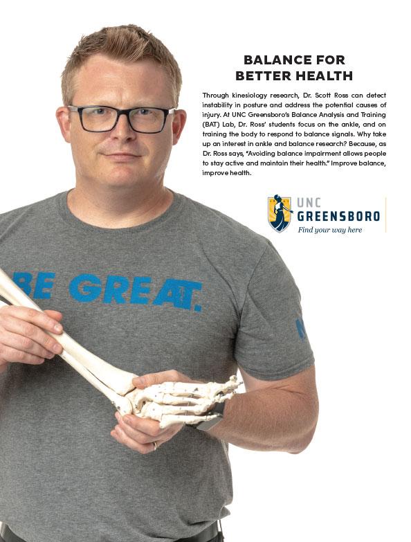 Brand ad Faculty Balance for Better Health Dr. Scott Ross